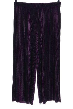 Zara Culottes lila-schwarz Casual-Look