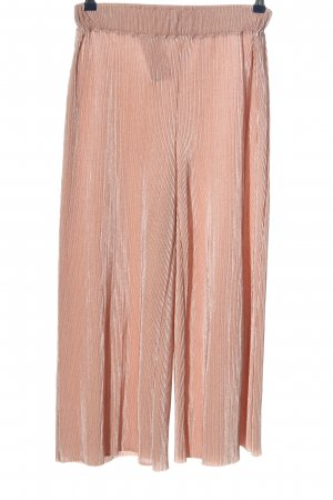Zara Falda pantalón de pernera ancha rosa estampado a rayas look casual