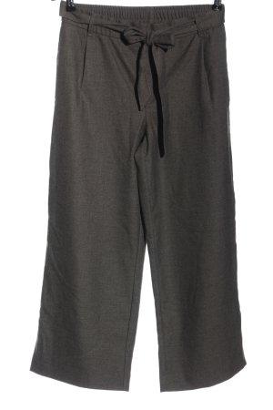 Zara Falda pantalón de pernera ancha gris claro moteado look casual