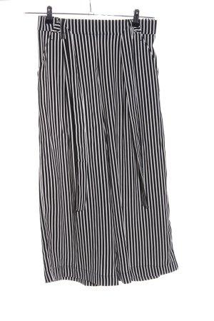 Zara Culottes schwarz-weiß Allover-Druck Casual-Look