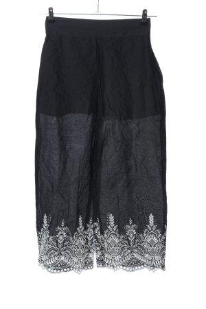 Zara Culottes schwarz grafisches Muster Casual-Look