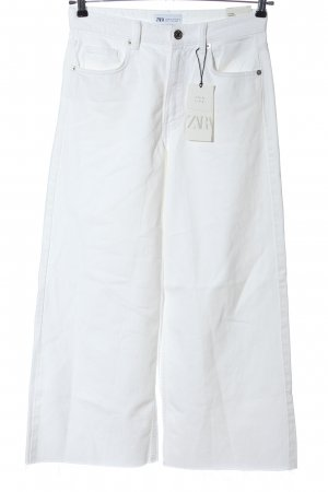 Zara Culotte blanc style décontracté