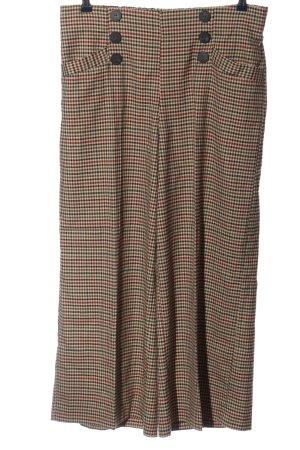 Zara Culottes check pattern casual look