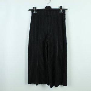 Zara Pantalone culotte nero-argento
