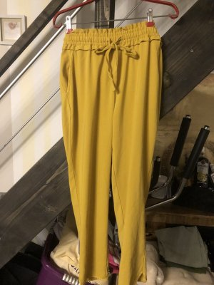 Zara Trafaluc Pantalone culotte giallo lime-giallo