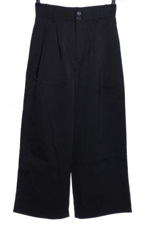 Zara Falda pantalón de pernera ancha negro tejido mezclado