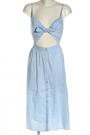 Zara Cut-Out-Kleid blau-weiß Streifenmuster Casual-Look