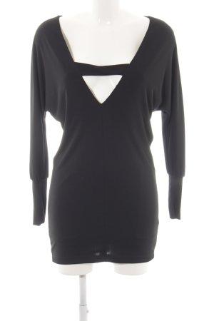 Zara Cut-Out-Kleid schwarz Elegant