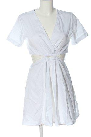 Zara Cut-Out-Kleid weiß Casual-Look