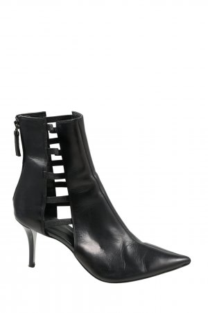 Zara Cut Out Booties black business style