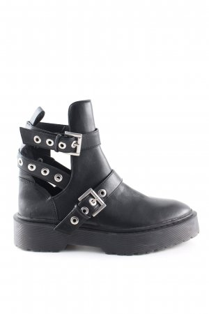 Zara Cut Out Booties black casual look