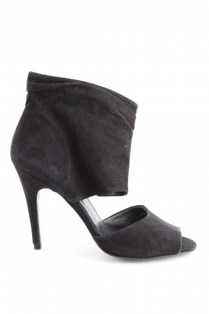 Zara Cut-Out-Stiefeletten schwarz Casual-Look
