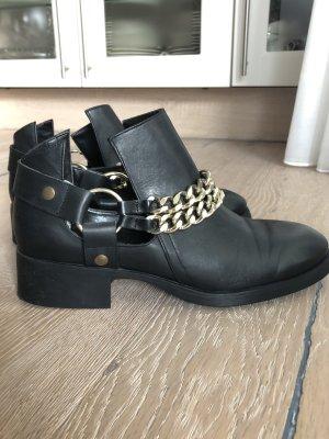 Zara Cut out boots zwart-goud