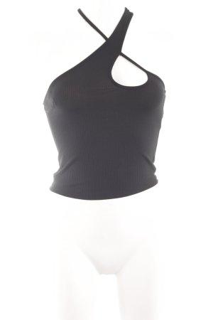 Zara Top cut-out nero stile casual