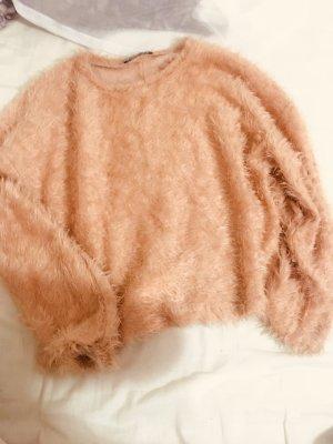 Zara Polarowy sweter nude