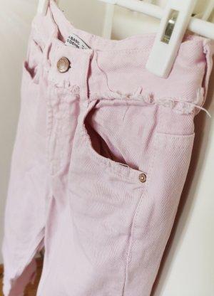 Zara 3/4 Length Jeans light pink cotton
