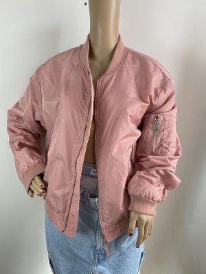 Zara Basic Bomberka różowy Tkanina z mieszanych włókien