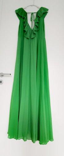 Zara Damen Grün rückenfrei tiefer V-Ausschnitt Maxikleid Sommerkleid Gr.M 38
