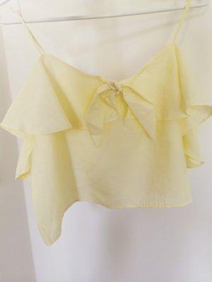 Zara Damen hell Gelb Trägerhemd Top Gr.M 38