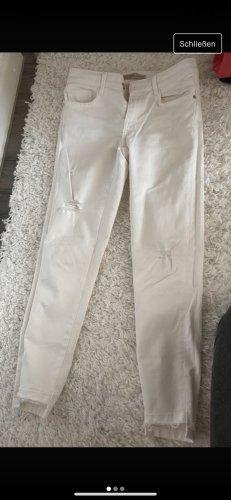 Zara Jeans skinny blanc