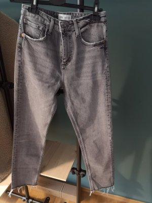 Zara Damen jeans wie neu Grau hell