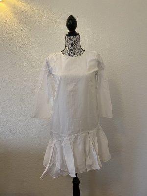 ZARA Damen Kleid Asymetrisch Weiß Größe XS TOP !!