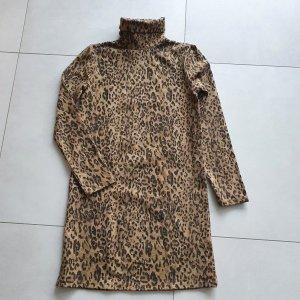 Zara Damen Kleid, Leoprint, Gr. S, NEU