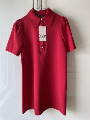 ZARA Damen Kleid Rot Gr.XS Neu mit Etikett