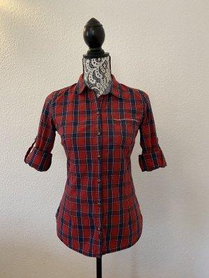 Zara Damen Langarm Hemd Rot/Schwarz Gr. S TOP !!