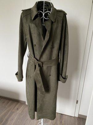 Zara Damen Mantel grün neu L