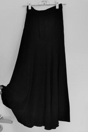 Zara Damen Midirock schwarz mit Gummiband am Taille Gr.XS 34