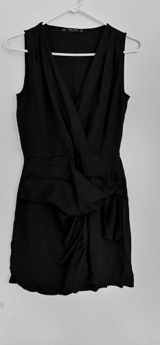 Zara Damen schwarz Summer ärmellos kurz Jumpsuit Overall Shorts