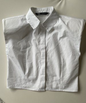 ZARA Damen Shirt/Hemd/Bluse Weiß Gr.XS