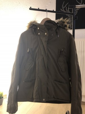 Zara Damen Winter/Übergangsjacke mit Fell