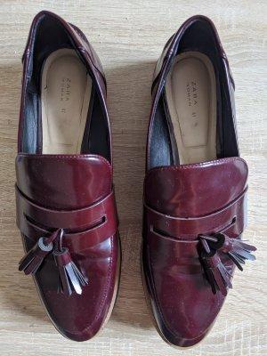 Zara Zapatos formales sin cordones violeta amarronado-púrpura