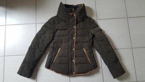 Zara Basic Doudoune brun noir polyester