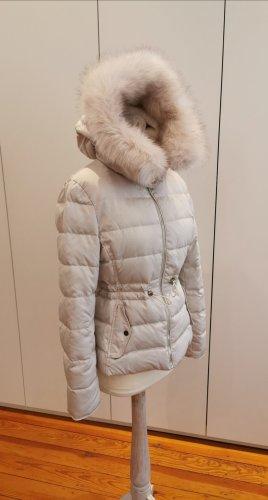 Zara Woman Doudoune blanc cassé-crème