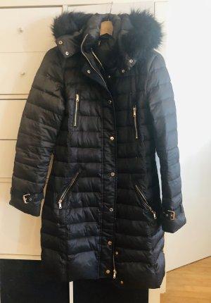 Zara Down Coat black brown