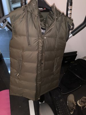 Zara Down Vest khaki-green grey