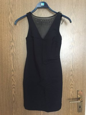 Zara deep V low back black dress