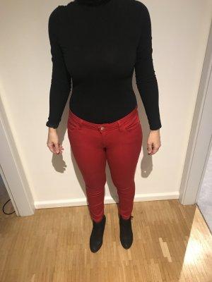 Zara Peg Top Trousers red