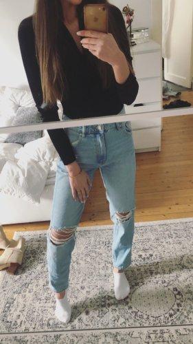 Zara Denim Jeans High Waist Mom Boyfriend Slim Slouchy Baggy