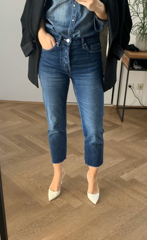 ZARA Denim Jeans - High Waisted - 36 - Raw Edge - Cropped