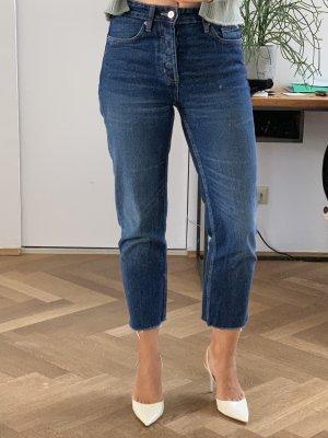 ZARA Denim Jeans - High Waisted - 36 - Raw Edge - Cropped