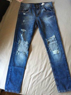 Zara destroyed Jeans blau