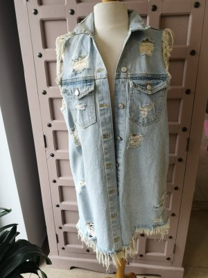 Zara Destroyed Jeans Weste Gr S Jeanskleid