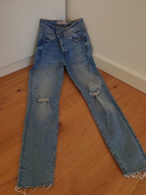 zara destroyed jeans xs