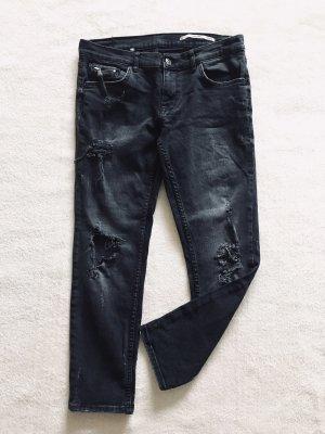 Zara Boyfriend Jeans dark grey-anthracite