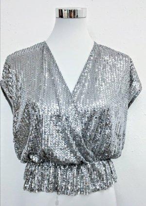 Zara Shirt Tunic silver-colored