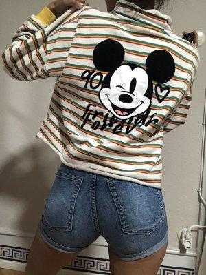 "Zara Disney Pullover ""Mickey Mouse 90"" Cropped Vintage Sweatshirt Gr.152/XXS"